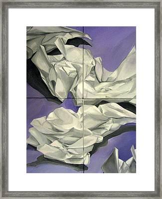 Discards Framed Print by Julie Orsini Shakher