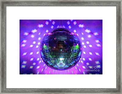 Disco Ball Purple Framed Print
