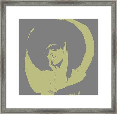 Disco Green Framed Print