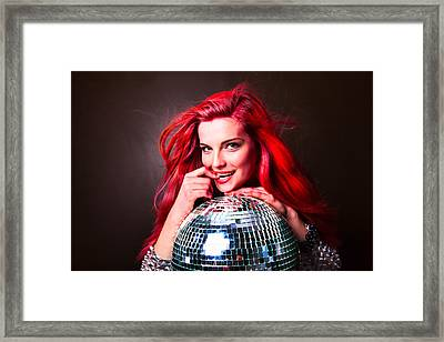 Disco Smile Framed Print