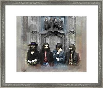 Discontent The Beatles Framed Print by Iconic Images Art Gallery David Pucciarelli