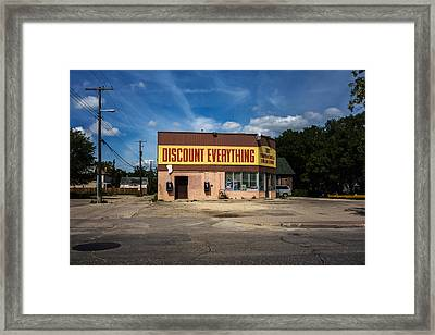 Discount Everything Framed Print by Bryan Scott