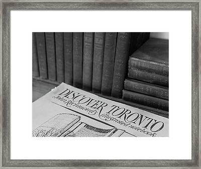 Discover Toronto Framed Print