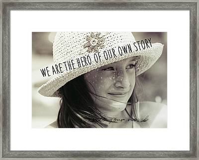 Discover Yourself Quote Framed Print by JAMART Photography