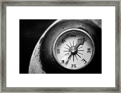Discovering My Compass Framed Print