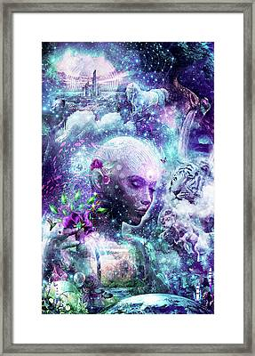 Discovering The Cosmic Consciousness Framed Print by Cameron Gray