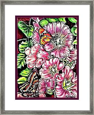 Framed Print featuring the painting Discovering The Star Of Bethlehem In A Flower by Kimberlee Baxter