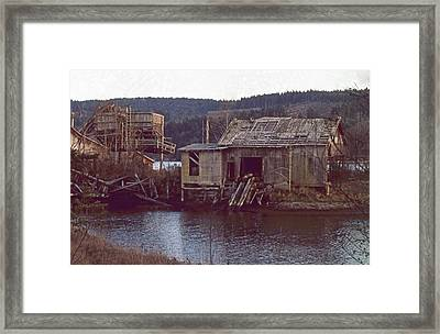 Discovery Bay Mill Framed Print by Laurie Stewart