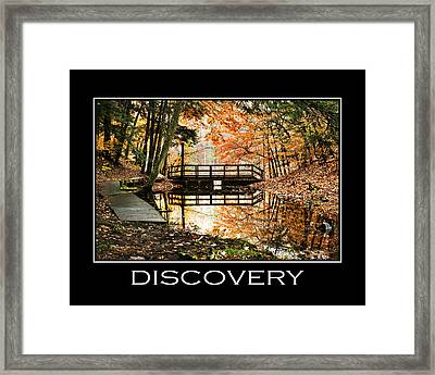 Discovery Inspirational Motivational Poster Art Framed Print by Christina Rollo