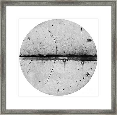 Discovery Of The Positron, 1932 Framed Print by Science Source