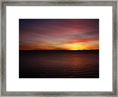 Discovery Park Sunset 6 Framed Print