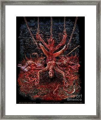 Discretion Of The Impure Framed Print