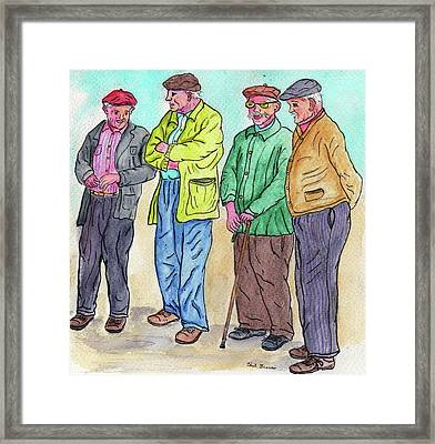 Discussing World Politics Framed Print