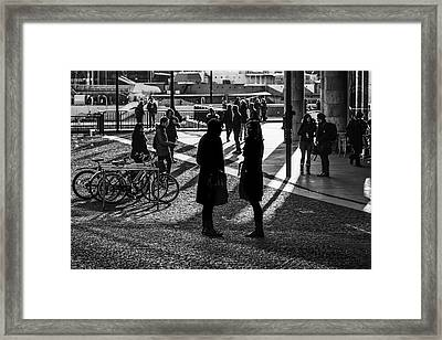 Discussion Framed Print
