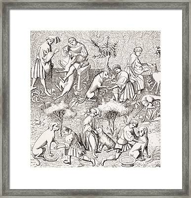 Diseases Of Dogs And Their Cures. 19th Framed Print by Vintage Design Pics