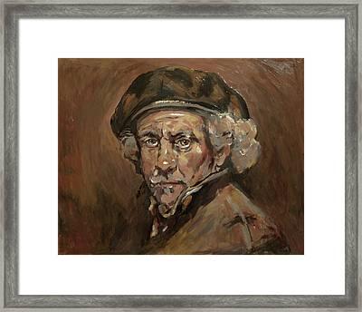 Disguised As Rembrandt Van Rijn Framed Print by Nop Briex