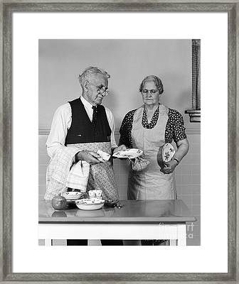 Dish Broken While Drying, C.1940-50s Framed Print by H. Armstrong Roberts/ClassicStock