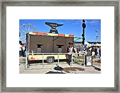 Dismaland Anvil Game Framed Print by Lucy Antony