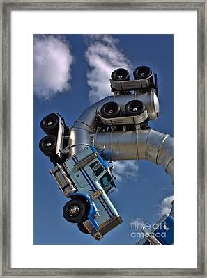 Dismaland Big Rig Framed Print by Lucy Antony