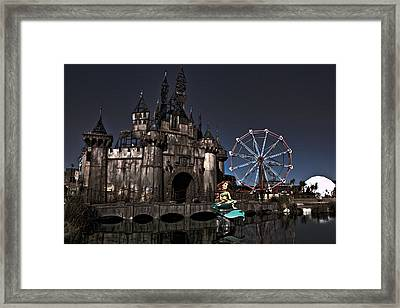 Dismaland Dark Castle And Aerial Framed Print by Lucy Antony