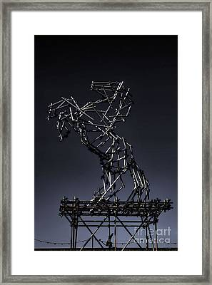 Dismaland Horse Sculpture Framed Print by Lucy Antony