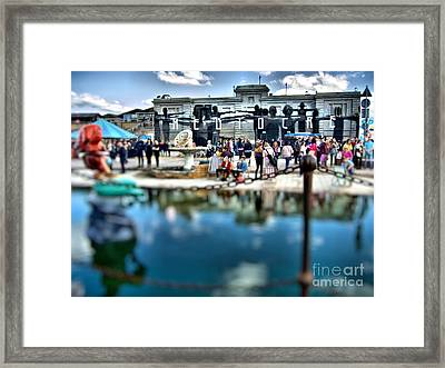 Dismaland Mediocre Framed Print by Lucy Antony