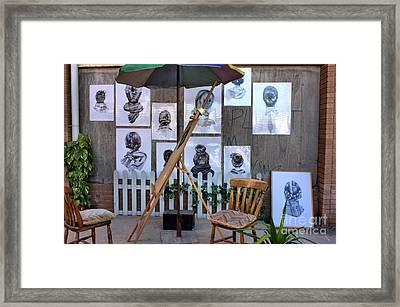Dismaland Portrait Artist Framed Print by Lucy Antony