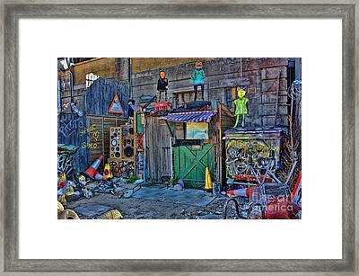 Dismaland Puppets Framed Print by Lucy Antony