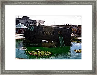 Dismaland Riot Van Framed Print by Lucy Antony