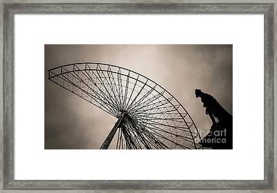 Dismantling Of A Ferris Wheel. Framed Print by Bernard Jaubert