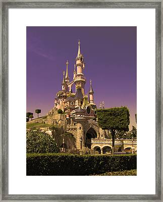 Disney Castle Paris Framed Print by Nop Briex