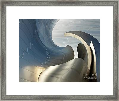 Disney Concert Hall Swirl Framed Print