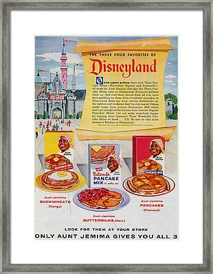 Disneyland And Aunt Jemima Pancakes  Framed Print