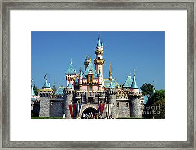 Framed Print featuring the photograph Disneyland Castle by Mariola Bitner