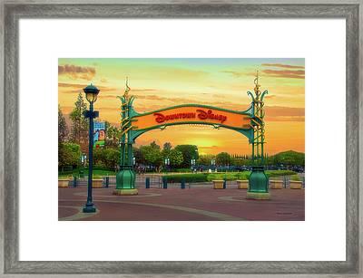 Disneyland Downtown Disney Signage 02 Framed Print