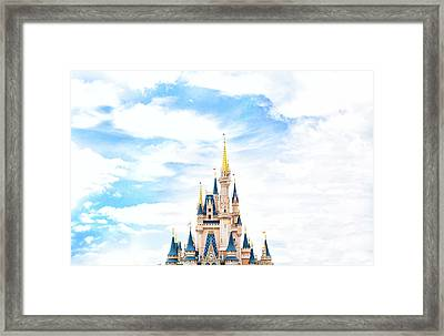 Disneyland Framed Print by Happy Home Artistry