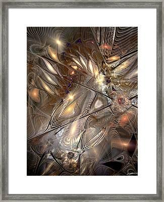 Disorderly Relativistic Interpretations Framed Print by Casey Kotas