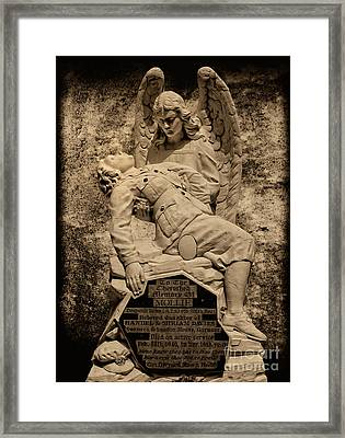 Framed Print featuring the photograph Dispatch Rider Memorial by Nigel Fletcher-Jones