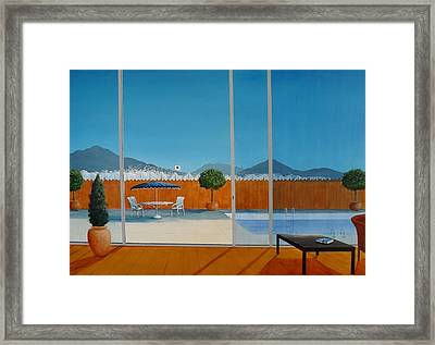 Displacement Framed Print by Tony Gunning