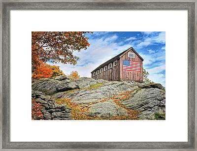 Display Of Colors - Roxbury Barn  Framed Print