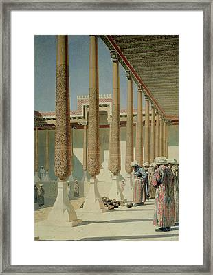 Display Of Trophies Framed Print by Vasili Vasilievich Vereshchagin
