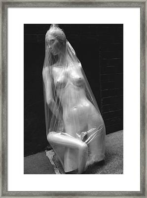 Disposable Beauty Framed Print
