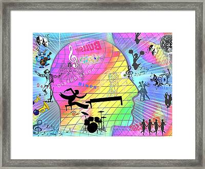 Dissociation Blues Framed Print