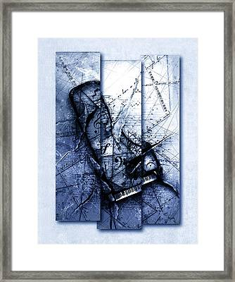 Dissonance In Blue Framed Print