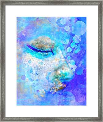 Distaff Sleep Framed Print by Moon Stumpp