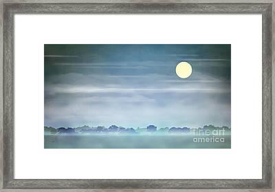 Distant Blue Haze Framed Print