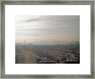 Distant City Framed Print
