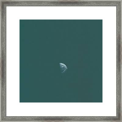 Distant Earth Framed Print by Artistic Panda