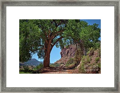 Distant Escalante Moon Framed Print