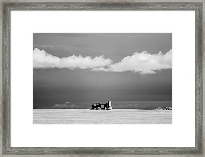 Distant Grain Elevator Framed Print